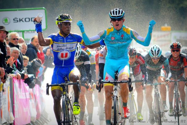 Etrange finish sur le Tour de Bretagne (photo Elen Rius)