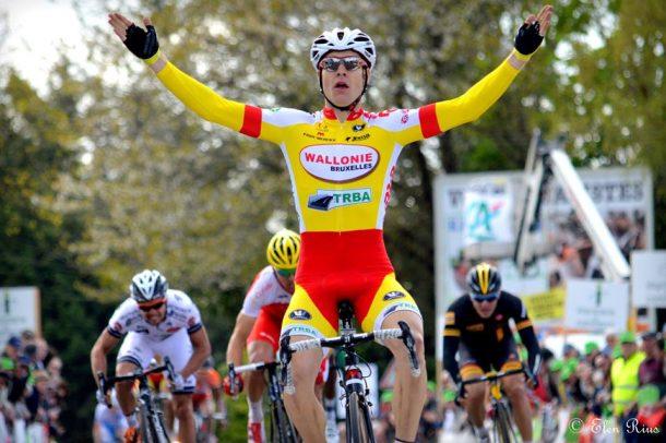 Antoine Demoitié, vainqueur du Tour du Finsitère, Photo Elen Rius