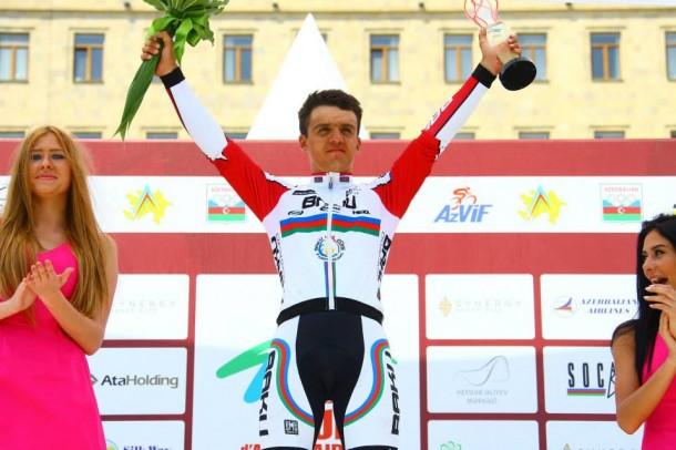 Samir Jabrayilov 19 ans, Synergy Baku, termine 26 ème au générla et meilleur coureur Azeri (Photo Sabine Jacob)