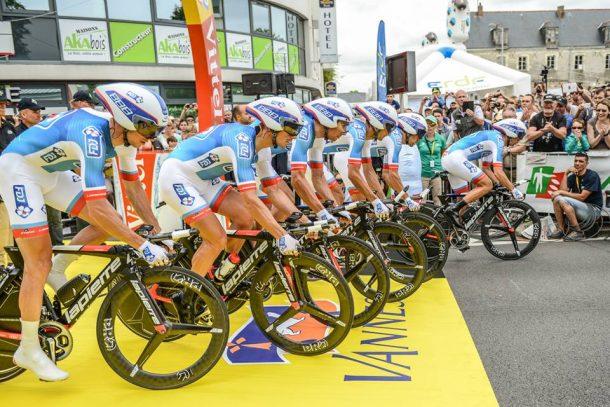 le contre la montre par équipes en Bretagne (Photo FDJ Nicolas Götz)