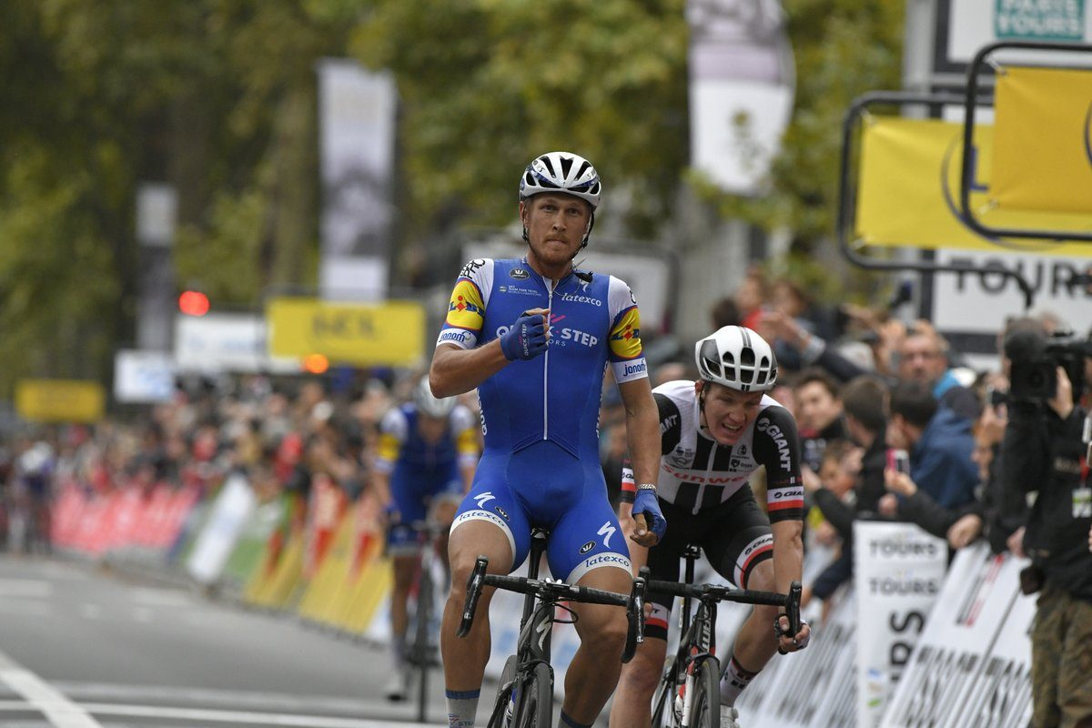 Matteo Trentin, vainqueur de Paris-Tours