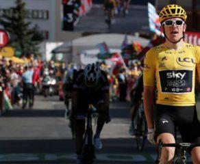 En jaune, Geraint Thomas enlève l'Alpe d'Huez