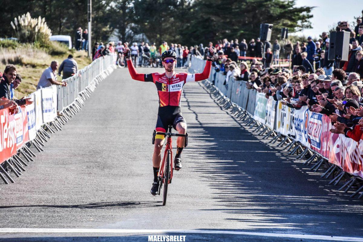 Cyclo-cross de Kerlouan-Meneham: Tony Périou, Antoine Huby et Anaïs Grimault