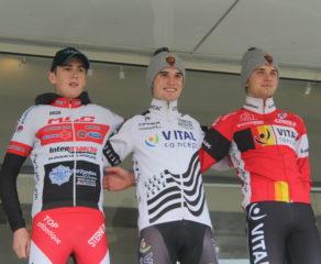 Lanarvily (juniors); Antoine Huby en champion devant Maxan Tanguy et Alexis Robert
