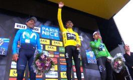 Egan Bernal remporte Paris-Nice devant Nairo Quintana