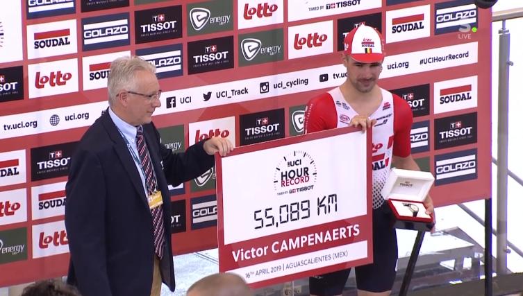 Victor Campenaerts: «Heureux de franchir la barre magique des 55km»