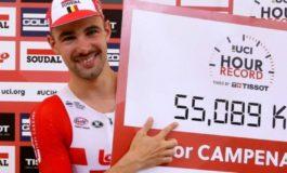 """Victor Campenaerts; """"Wiggins n'a pas vu comment, avec l'équipe, nous avons battu son record de l'heure"""""""