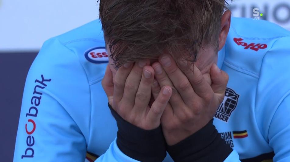 Remco Evenepoel, 19 ans, champion d'Europe du contre la montre élites