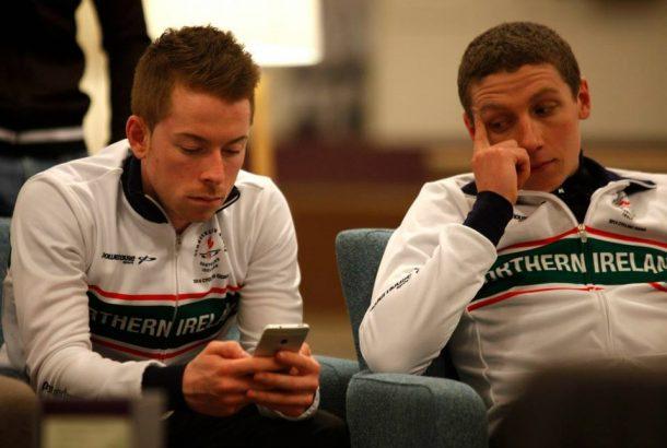 Avec Sean Downey qu'il retrouve au sein du team Dynamo Cover Pro Cycling (Photo Darren Crawford)