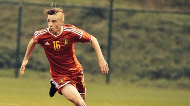 Remco Evenepoel sous le maillot de l'équipe de Belgique