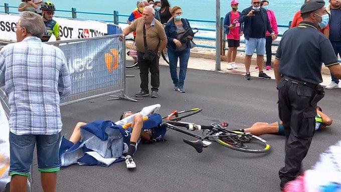 Giro - Giro : Luca Wackermann, blessé lors d'une chute, abandonne